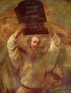 Wir denken alle, dass wir liberal sind, dass wir andere Meinungen gelten lassen und nicht auf unseren eigenen Werte bestehen. Stimmt das wirklich? Mose mit den Zehn Geboten, Rembrandt, 1659