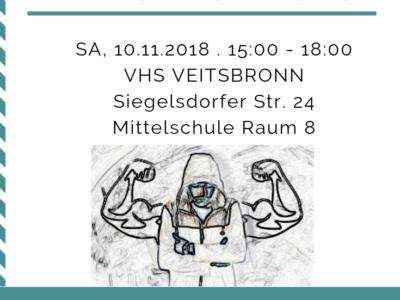 Workshop Männer verstehen, 10.11.2018 bei VHS Obermichelbach | Dozent: Roland Scherer